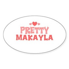 Makayla Oval Decal