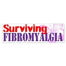 Surviving Fibromyalgia Bumper Sticker Bumper Stick