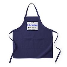 i'm a librarian Apron (dark)