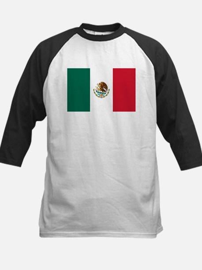Mexican Flag Kids Baseball Jersey