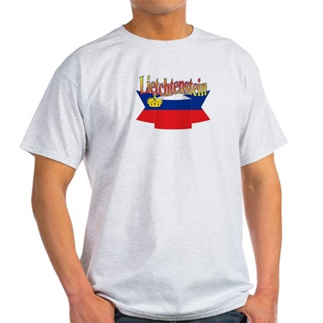 Liechtenstein flag ribbon Light T-Shirt