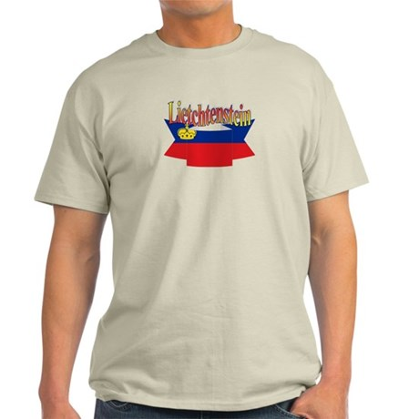 Liechtenstein flag ribbon Light T-Shirt