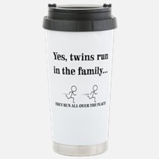 Yes, Twins Run In The Stainless Steel Travel Mug