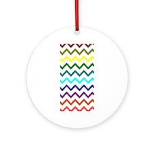 Modern Multicolor Chevron Ornament (Round)