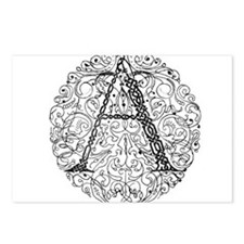 Intricate Celtic A in Circle Postcards (Package of