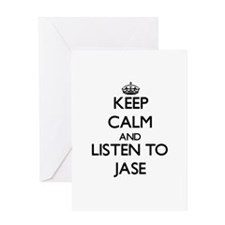 Keep Calm and Listen to Jase Greeting Cards