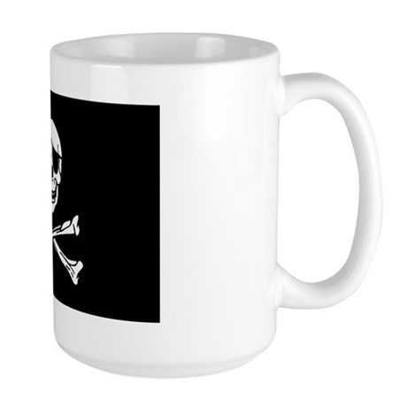 Pirate Skull With Eyepatch Large Mug