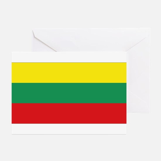 Lithuania flag Greeting Cards (Pk of 10)