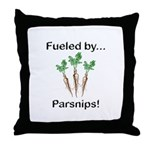 Fueled by Parsnips Throw Pillow