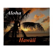 Sunset North Shore Oahu Throw Blanket