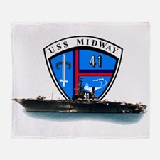 Uss Midway Cv-41 Throw Blanket