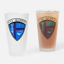 USS Midway CV-41 Drinking Glass