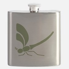 Green Dragonfly Flask