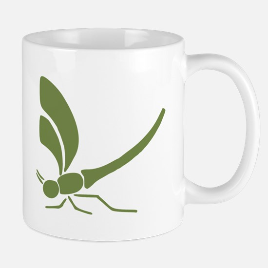 Green Dragonfly Mugs