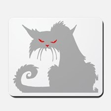 Angry Grey Cat Mousepad