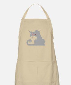 Angry Grey Cat Apron