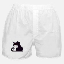 Angry Black Cat Boxer Shorts