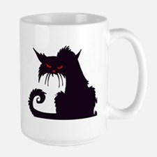 Angry Black Cat Mugs
