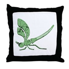 Glass Dragonfly Throw Pillow