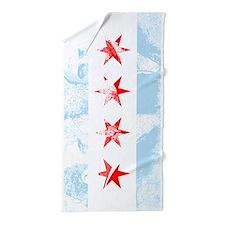 Chicago Flag Al Capone Beach Towel