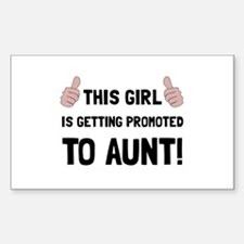 Promoted To Aunt Decal