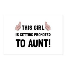 Promoted To Aunt Postcards (Package of 8)