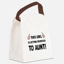 Promoted To Aunt Canvas Lunch Bag