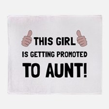 Promoted To Aunt Throw Blanket