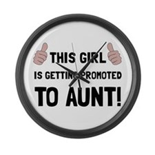 Promoted To Aunt Large Wall Clock