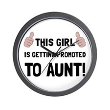 Promoted To Aunt Wall Clock