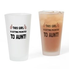 Promoted To Aunt Drinking Glass