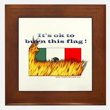 Burn This Flag Framed Tile