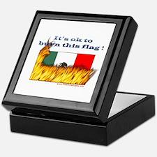 Burn This Flag Keepsake Box