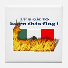 Burn This Flag Tile Coaster