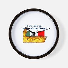 Burn This Flag Wall Clock