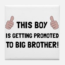 Promoted To Big Brother Tile Coaster