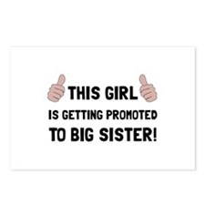 Promoted To Big Sister Postcards (Package of 8)