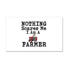 Nothing Scares me I Am A Farmer Car Magnet 20 x 12