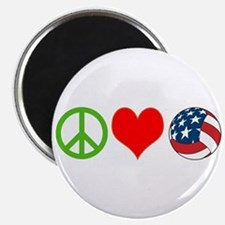 PEACE, LOVE, VOLLEYBALL (USA) Magnet