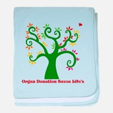 Organ Donation Tree baby blanket