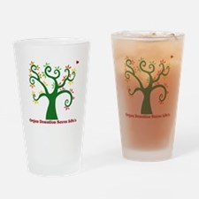 Organ Donation Tree Drinking Glass