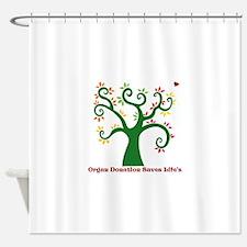 Organ Donation Tree Shower Curtain