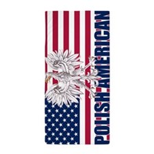 Polish American Beach Towel