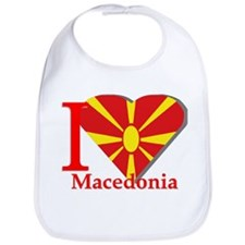 I love Macedonia Bib