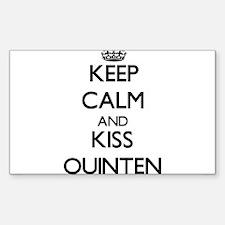 Keep Calm and Kiss Quinten Decal