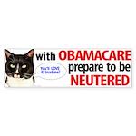 Prepare To Be Neutered With Bumper Sticker