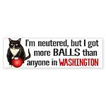 Patriot Cat Has More Balls Bumper Sticker