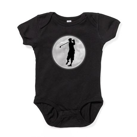 Golfer Moon Baby Bodysuit