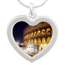 Colosseum Silver Heart Necklace
