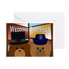 Air Force Enlisted Bride & Groom Greeting Card